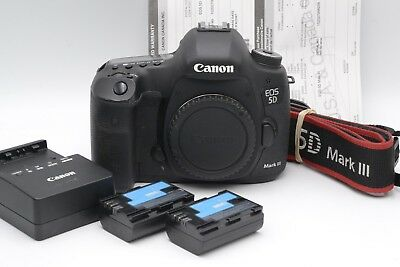 EXC++ CANON USA EOS 5D Mark III BODY, 2BATTS, CHARGER, STRAP, 42K ACTS