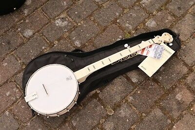 NEU Goodtime Deering Open Back fretless Scoop 5S Banjo mit Gigbag Made in USA