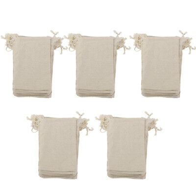 50Pcs Small Simple Linen Jute Sack Jewelry Pouch Drawstring Gift Bags