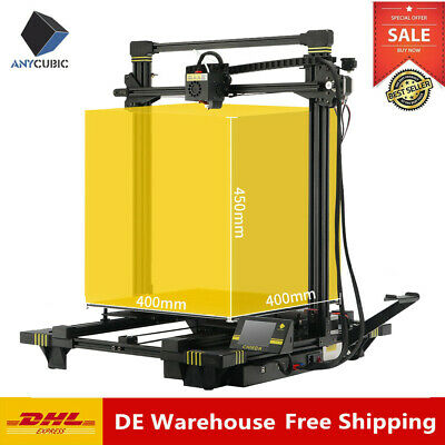 DE Stock Anycubic Chiron 3D Drucker Auto-Leveling Druckgröße 400x400x450mm & PLA