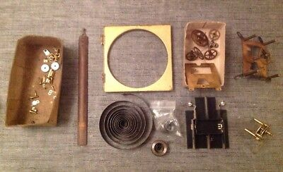 Clockmakers Clock Spare Parts Movement Mainsprings Cogs Wheels Other Parts