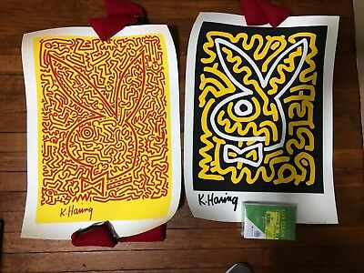 Keith Haring, Playboy 1990 Serigraph Set