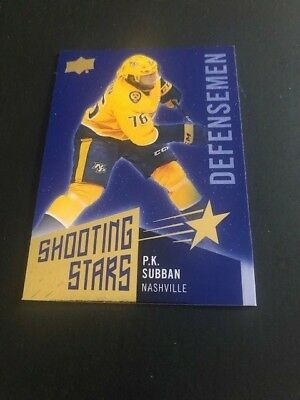 2018-19 UPPER DECK HOCKEY Series 1 SHOOTING STARS PK SUBBAN SSD-3