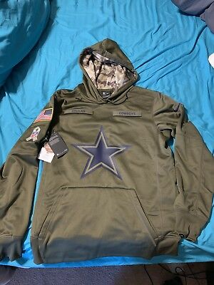 NIKE DALLAS COWBOYS SALUTE TO SERVICE NFL HOODIE YOUTH L CAMO ... 03d48107c