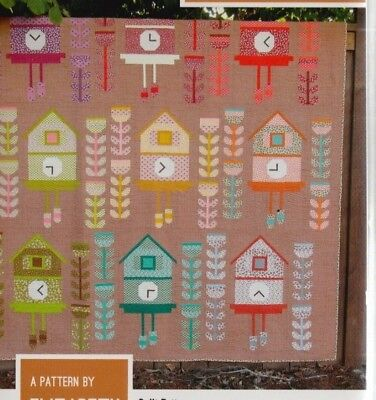 Cuckoo - fun modern pieced quilt PATTERN - 3 sizes - Elizabeth Hartman