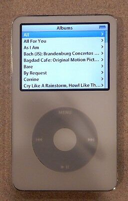 Apple iPod Classic 5th Gen 30GB Model A1136 White Tested Working