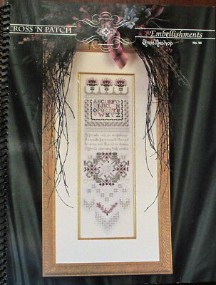 Emie Bishop Cross N'Patch Embellishments Counted Thread Chart/Pattern