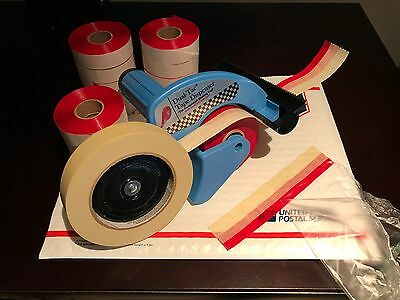 Genuine Dual Tac Tape® & Dispenser Combo - 24 Rolls w/ Free Shipping