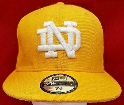 db46626d6b2 NOTRE DAME FIGHTING Irish NCAA New Era 59Fifty fitted cap hat ...
