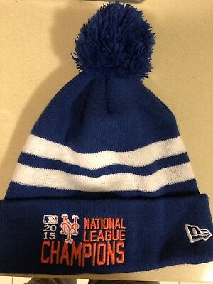size 40 9acaf 107ab 2015 New York Mets NL Champions Winter Hat New