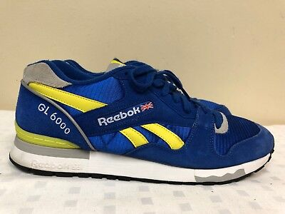 37e186b0a9a Reebok GL 6000 Men Blue Yellow Athletic Sneakers -SAMPLE- Size 12 EUR 45.5