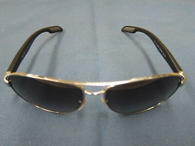 78b28301a1 PRADA Sunglasses SPS 53p 1bc-5w1 ROSSA Men Aviator SILVER BLACK  Gray Grad  Polar