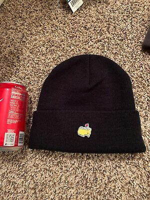 98eed7b2dab Masters Golf Tournament Knit Stocking Cap Hat Beanie Black Augusta National  Angc