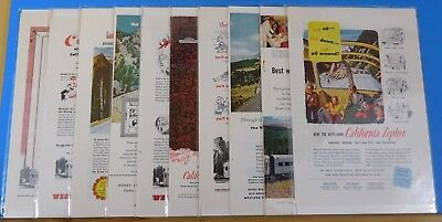 Ads Western Pacific RR California Zephyr #6 Advertisements from various magazine
