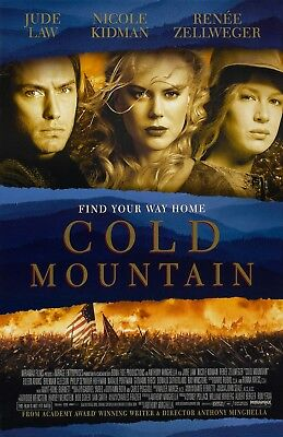 Cold Mountain movie poster  - Jude Law, Nicole Kidman - 11 x 17 inches (c)