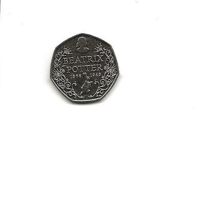 Beatrix Potter 2016 50p Coin 150th Anniversary Fifty Pence - Circulated