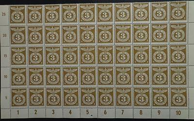 Germany WWII Third Reich Half sheet Eagle -Swastika  MNH Luxe