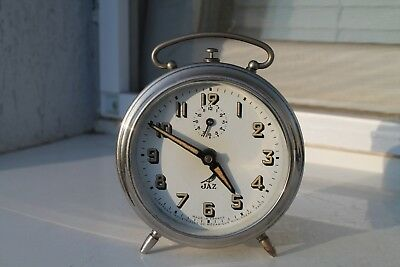 Antique Old French Made Charming  Alarm Clock JAZ Art Deco