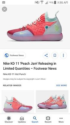 MEN S NIKE ZOOM KD 11 Peach Jam Basketball Shoe Limited Edition Size ... c61337c23
