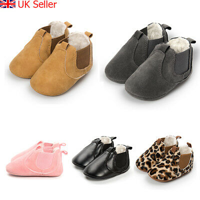 Baby Shoes Boys Girls Winter Warm Snow Boots Booties Crib Pram Shoes First Walk