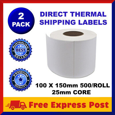 Direct Thermal Shipping 100x150mm 4x6 Label 4 Fastway Startrack eParcel x 1000