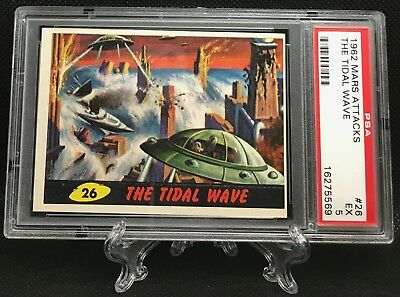 1962 Mars Attacks THE TIDAL WAVE #26 EXCELLENT 5 - Topps garno PSA