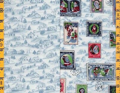 3yds-2pcs-1&1/2 yds ea Cotton Quilting Sewing Fabric Concord Xmas Toile