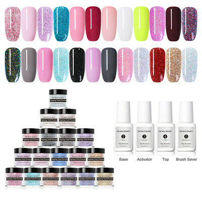 NICOLE DIARY 10ml Nail Dipping Powder Liquid Natural Dry Nail Art Starter Kit