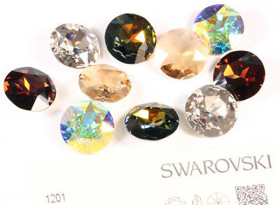 Genuine SWAROVSKI 1201 Flat Chaton 27mm Round Stones Crystals * Choose Color