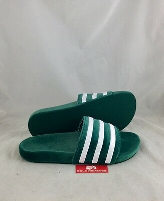 cb47f91ddf86d3 New Mens adidas Originals VELVET ADILETTE Green White BY9907 Sandals Slides  c1
