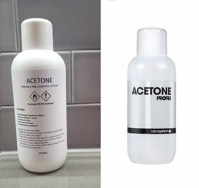 Salon System Acetone or Acetone 99.9% 1L - Nail/ Gel Polish Remover