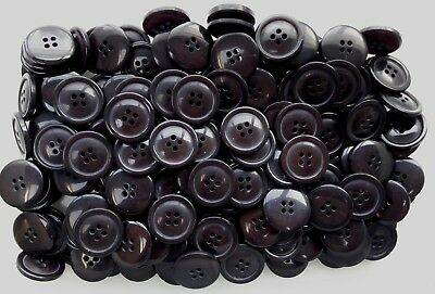 20mm 23mm Chocolate Brown Brush Effect 4 Hole Craft Sewing Buttons Q126A Q126B