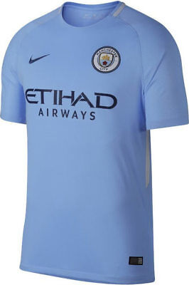 Mens Nike Breathe Manchester City Home Shirt 17/18    Size Large.  847261-489