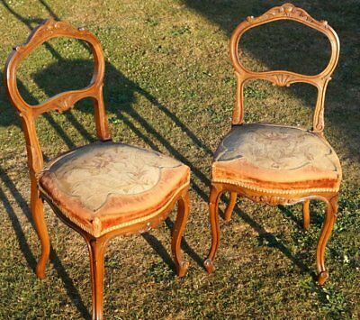 Pair of Old-Louis XV-style chairs from the middle of the 19th century (1850-60).