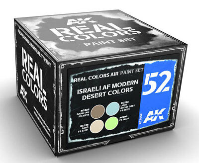 AK Interactive #AKI-RCS052 Israeli AF Modern Desert Colors Acrylic Lacquer Paint