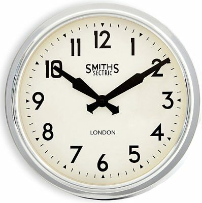 Smiths Silver Sectric Retro Wall Clock - 38cm