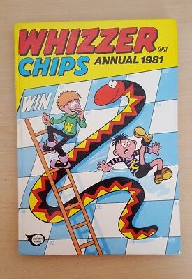 Vintage Whizzer And Chips Hardback Annual 1981. Not Price Clipped