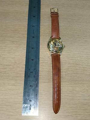 Transparent Vintage Automatic Mechanical Wrist Watch Leather/ used/ old/ working