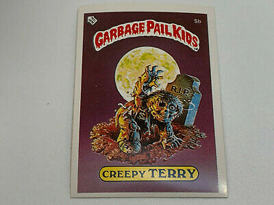 1985 UK Garbage Pail Kids 1st Series Card : 5b Creepy TERRY : Checklist