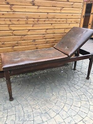 Antique /Vintage Doctors Couch Consulting Bench Massage Table