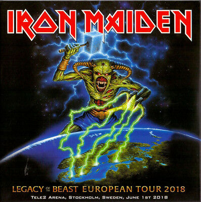 """IRON MAIDEN : """"Legacy of the beast"""" (Stockholm 2018) (selten 2 CD)"""