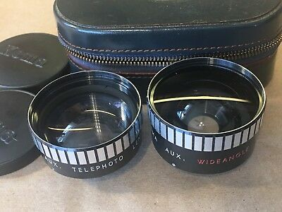 VINTAGE KOMA AUXILIARY LENS 52mm SET TELEPHOTO & WIDE ANGLE 37mm SCREW MOUNT