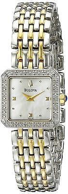 Bulova Women's 98R132 Quartz Diamond Accent Two-Tone Bracelet 20mm Watch