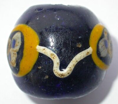 An Extremely Rare Late Phoenician or Hellenistic Large Glass Bead