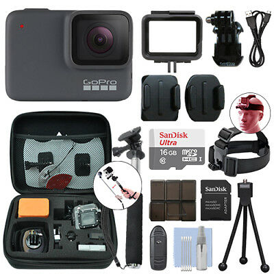 GoPro HERO7 Silver 10 MP Waterproof 4K Camera Camcorder + 16GB Accessory Kit