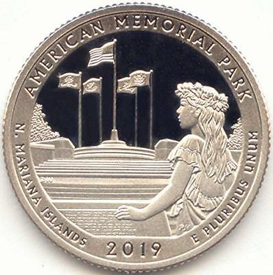 2019-S Clad Proof Quarter ATB American Memorial Park Northern Mariana Islands
