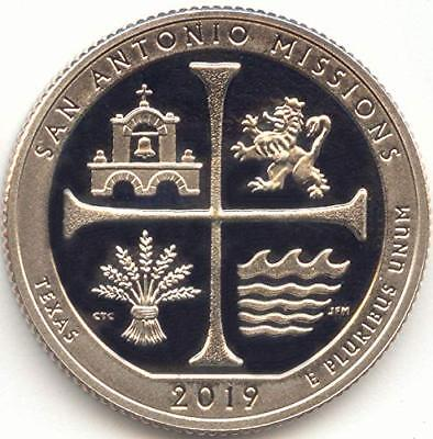 2019-S Proof Clad Quarter ATB San Antonio Missions National Park Texas