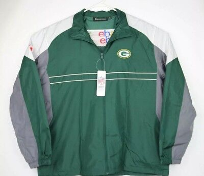 New NFL TEAM Apparel SI Dunbrooke Green Bay PACKERS XL WINDBREAKER JACKET NWT