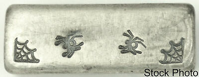 Yeagers Poured Silver YPS Arachnikat 2 oz .999 Fine Silver Poured Bar
