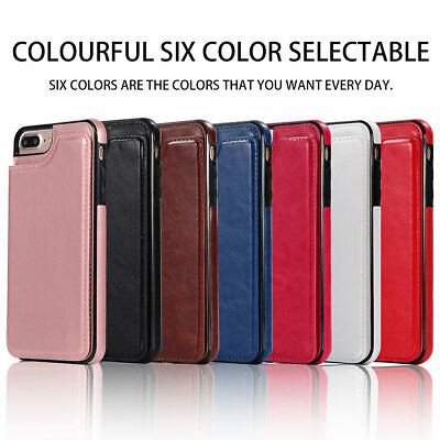 Dooqi Leather Wallet Case Card Slot Flip Cover For Apple iPhone 8/iPhone 8 Plus